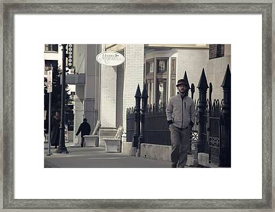 Fashion On The Street Framed Print by Dan Sproul