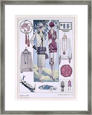 Fashion Plate, From La Femme Chic Framed Print by French School
