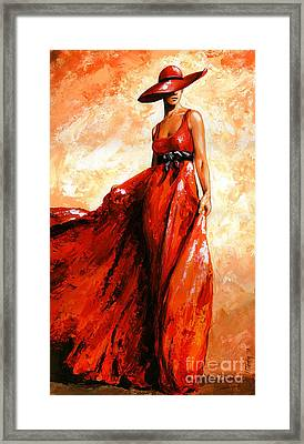 Fashion Red Framed Print by Emerico Imre Toth