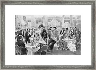 Fashionable Suppers Framed Print by Georges Bertin Scott