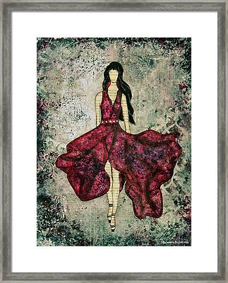Fashionista Mixed Media Painting By Janelle Nichol Framed Print by Janelle Nichol