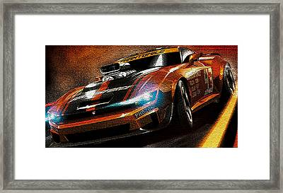 Fast Car Painting Framed Print by Marvin Blaine