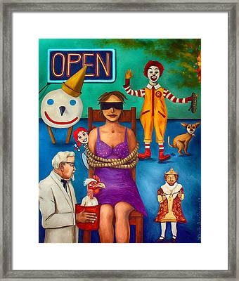 Fast Food Nightmare 3 Edit 2 Framed Print by Leah Saulnier The Painting Maniac