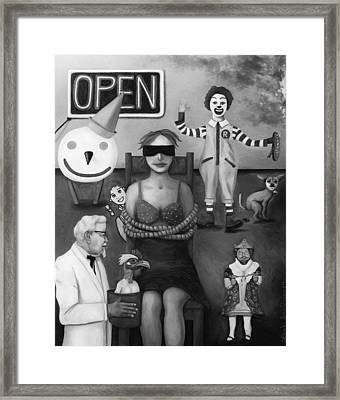 Fast Food Nightmare 3 Edit 3 Framed Print by Leah Saulnier The Painting Maniac
