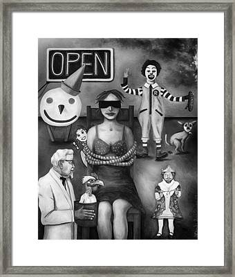 Fast Food Nightmare 3 Edit 4 Framed Print by Leah Saulnier The Painting Maniac