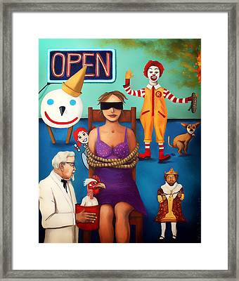 Fast Food Nightmare 3 Edit 5 Framed Print by Leah Saulnier The Painting Maniac