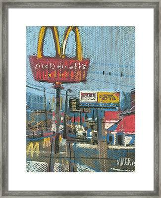 Fast Foods Framed Print by Donald Maier