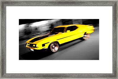 Fast Ford Mustang Mach 1 Framed Print by Phil 'motography' Clark