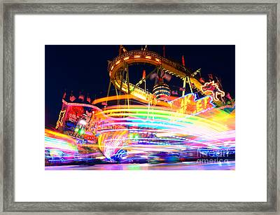 Fast Ride At The Octoberfest In Munich Framed Print by Sabine Jacobs