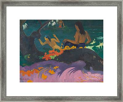 Fatata Te Miti  Framed Print by Paul Gauguin