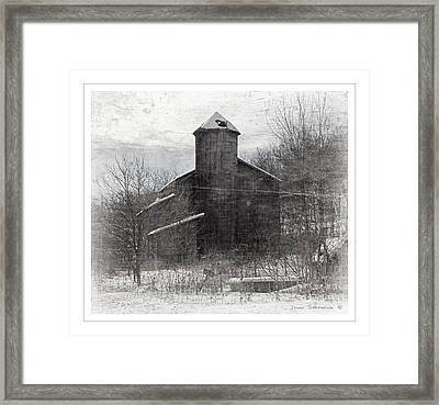 Fate Of The Family Farm Framed Print by John Stephens