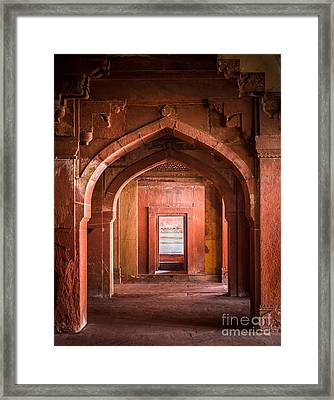 Fatehpur Sikri Entrance Framed Print by Inge Johnsson