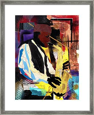 Fathead Newman Framed Print by Everett Spruill