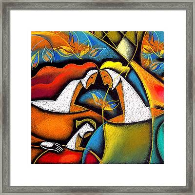 Father And Mother Framed Print by Leon Zernitsky