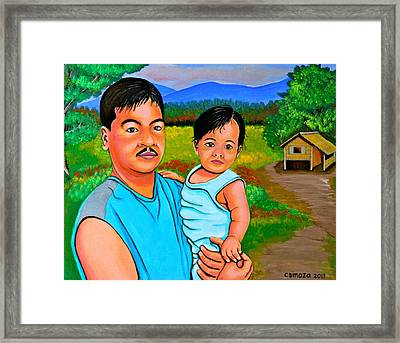 Father And Son Framed Print by Cyril Maza