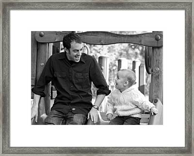 Father And Son II Framed Print by Lisa Phillips