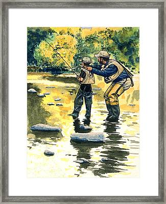 Father And Son Framed Print by John D Benson