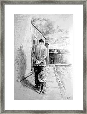 Father And Son Framed Print by Miki De Goodaboom
