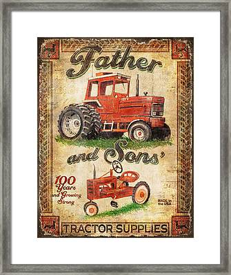 Father And Sons Framed Print by Joe Low