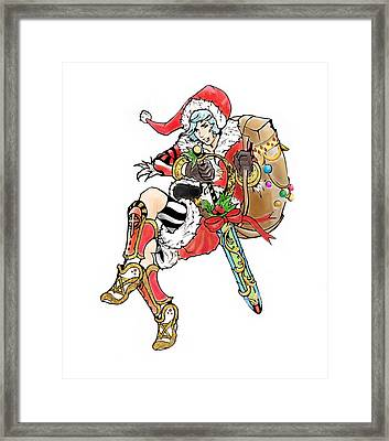 Father Christmas Framed Print by Miguel Karlo Dominado