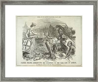 Father Thames And His Offspring Framed Print by British Library