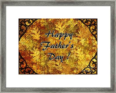 Father's Day Greeting Card I Framed Print by Debbie Portwood
