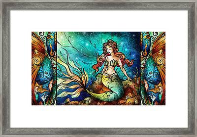 Fathoms Below Triptych Framed Print by Mandie Manzano