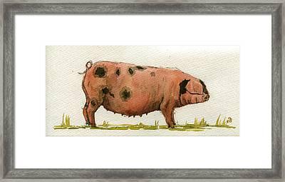 Faty Sow Framed Print by Juan  Bosco