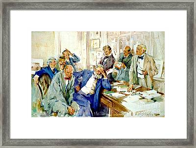 Faux Pas 1912 Framed Print by Padre Art
