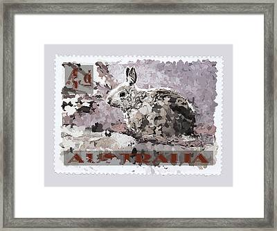 Faux Poste Bunny 4d Framed Print by Carol Leigh