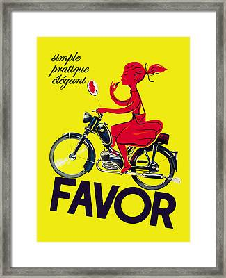Favor Lipstick 1950 Framed Print by Mark Rogan