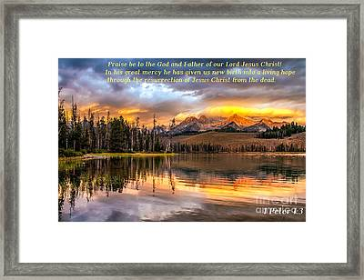 Favorite Easter Verse Framed Print by Robert Bales