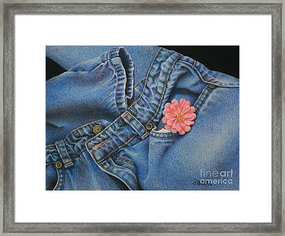 Favorite Jeans Framed Print by Pamela Clements