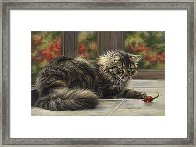 Favorite Toy Framed Print by Lucie Bilodeau