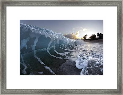 Dawn Wave Framed Print by Sean Davey