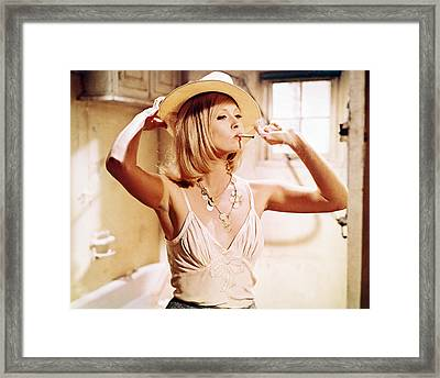 Faye Dunaway In Bonnie And Clyde  Framed Print by Silver Screen