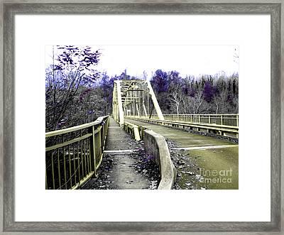 Fayette Station Bridge Framed Print by Amy Sorrell