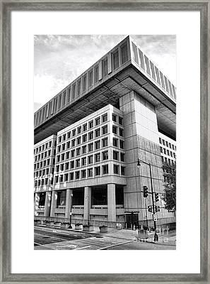 Fbi Building Rear View Framed Print by Olivier Le Queinec