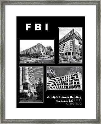Fbi Poster Framed Print by Olivier Le Queinec