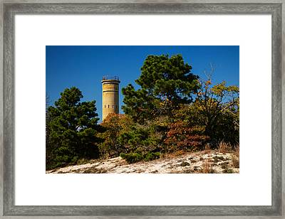 Fct8 Fire Control Tower 8 Autumn Sentry Framed Print by Bill Swartwout