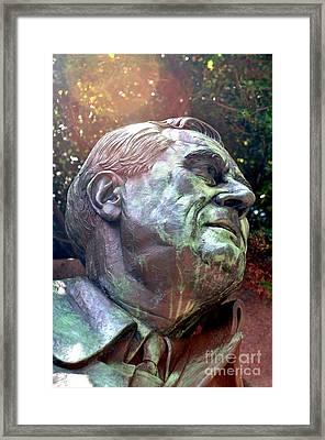 Fdr Memorial Framed Print by Mike Baltzgar