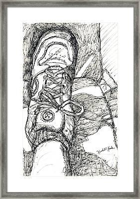 Fear Of Flying Framed Print by Kendall Kessler