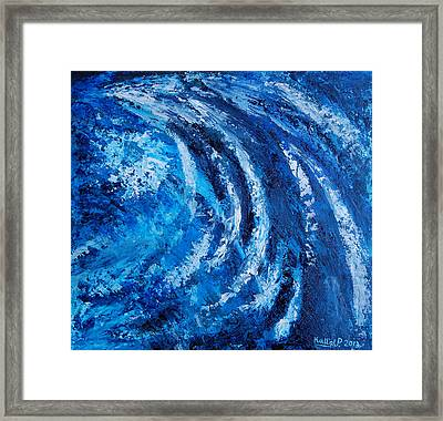 Fear Of Hurricane Framed Print by Peter Kallai