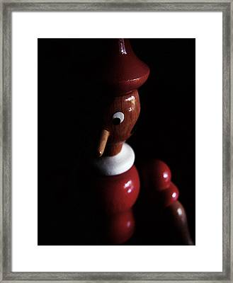 Fear Of The Dark Framed Print by Alessandro Della Pietra