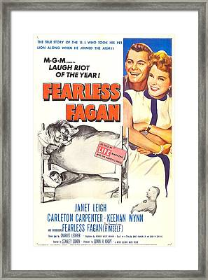 Fearless Fagan, Us Poster, Right Framed Print by Everett