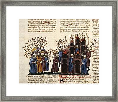 Feast Of Tabernacles, 1430 Artwork Framed Print by Patrick Landmann