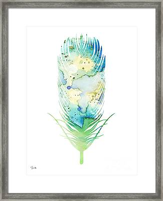 Feather Framed Print by Luke and Slavi