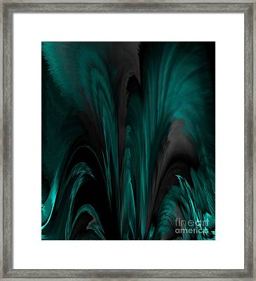 Feathers And Flow Framed Print by Patricia Kay