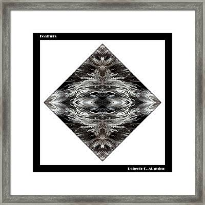 Feathers Framed Print by Roberto Alamino