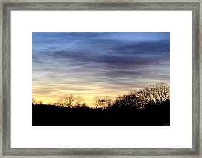 February 1 Dawn 2013 Framed Print by Maria Urso